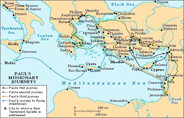 Fourth Journey Pauls Fourth Journey Pauls Fourth Journey – Map Of Pauls Travels