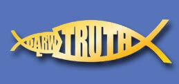 Jesus Fish eats Darwin Fish represents Science vs the Bible